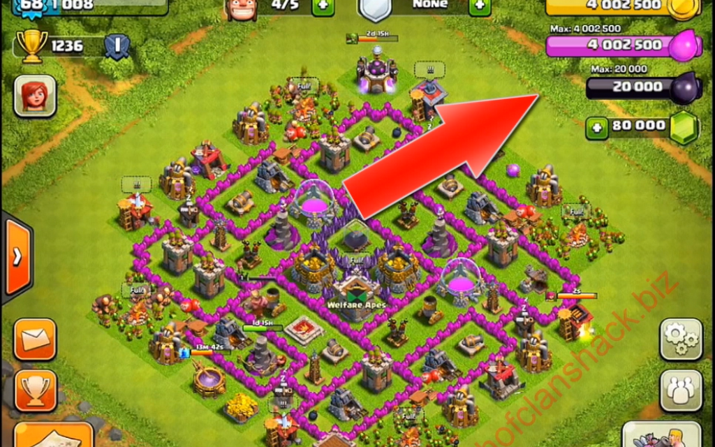 clash of clans hacked version download